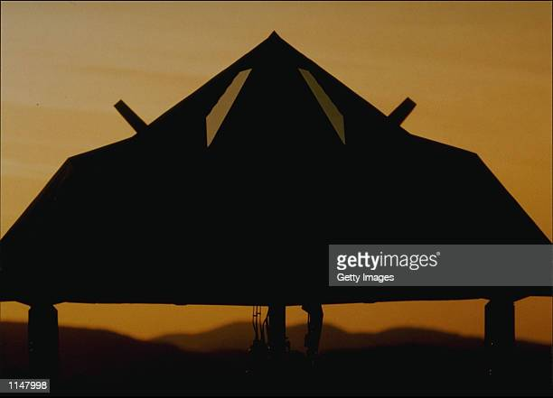 Stealth Fighter in the sunset The fighter F117 was part of the joint USUK strike on Iraq December 16 1998 for their refusal to allow UN inspections...