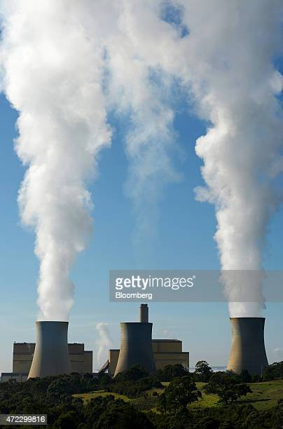 Steam billows from the cooling towers of the Yallourn coalfired power station operated by EnergyAustralia Holdings Ltd a unit of CLP Holdings Ltd in...