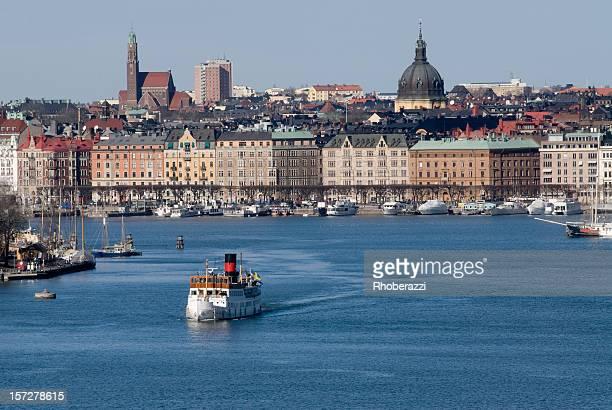 viagem de barco a vapor - arquipélago - fotografias e filmes do acervo