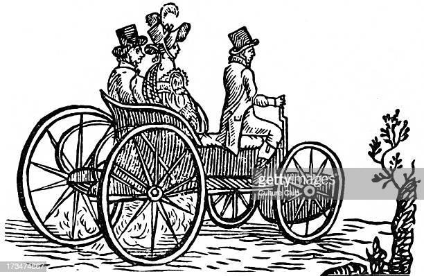 Steam car by Božek being tested in Prague 1815. Josef Božek - Czech engineer and inventor considered one of founders of Czech mechanics.