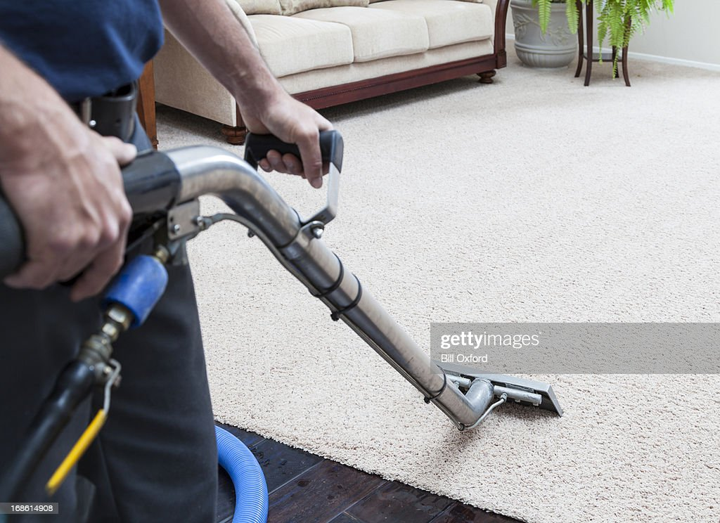 Steam Cleaning Carpets : Stock Photo