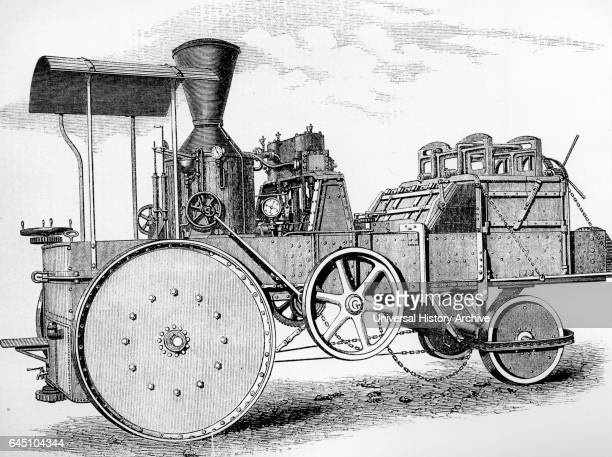 Steam driven moveable cotton press Designed for use in India to avoid loss by transporting loosely stacked cotton