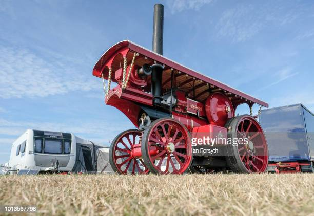 Steam engine is displayed during the final day of the Whitby Traction Engine Rally on August 5, 2018 in Whitby, England. Situated close to the...