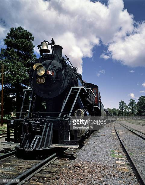 Steam engine of the Grand Canyon Railroad which runs from Williams a small town near Flagstaff up to the South Rim of the Grand Canyon Arizona