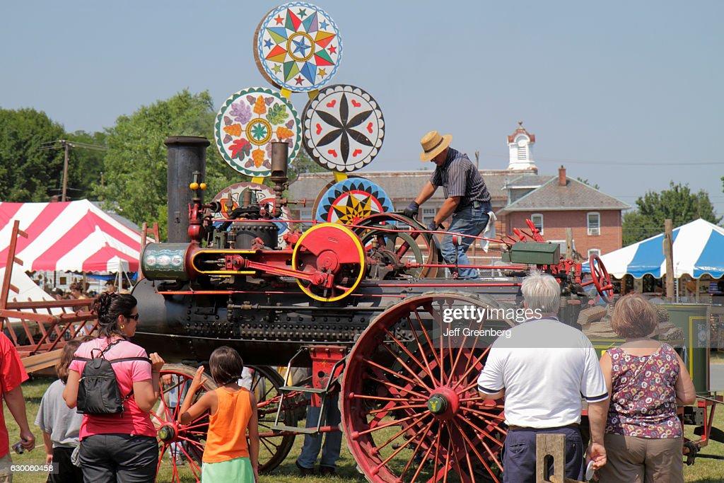 Kutztown Folk Festival 2020.Steam Engine Tractor At The Kutztown Folk Festival News