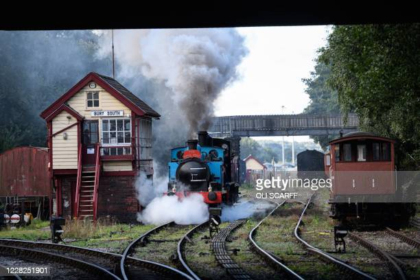 Steam engines arrive into Bury station in northern England on August 29 on one of the first weekends of operation since their extended closure due to...