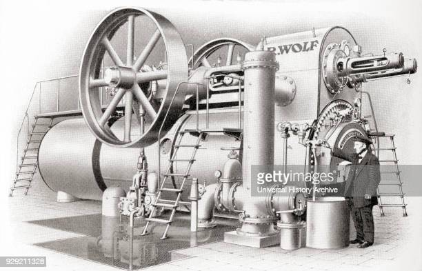 A steam heating apparatus built by R Wolf MagdeburgBuckau From Meyers Lexicon published 1927