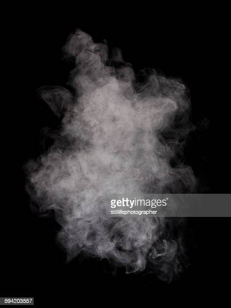 Steam in black background