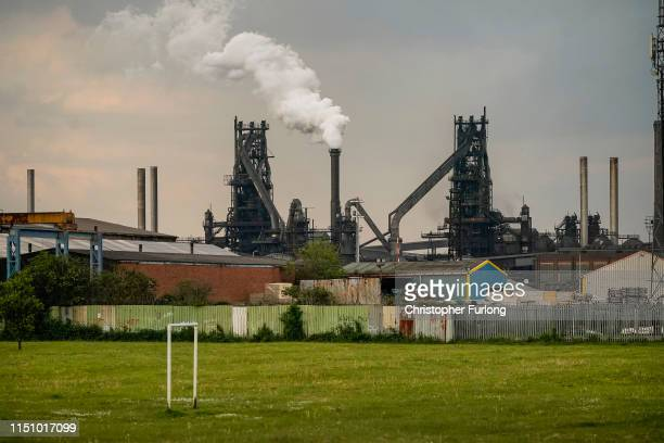 Steam is emitted from a chimney at British Steel's Scunthorpe works which has been forced into liquidation today on May 22, 2019 in Scunthorpe,...