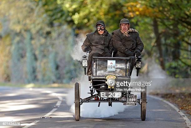A 1899 steam Locomobile takes part in the 120th London to Brighton Veteran Car Run on November 6 2016 in Staplefield England Over 400 pre1905...