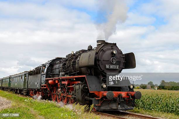 Steam locomotive close up