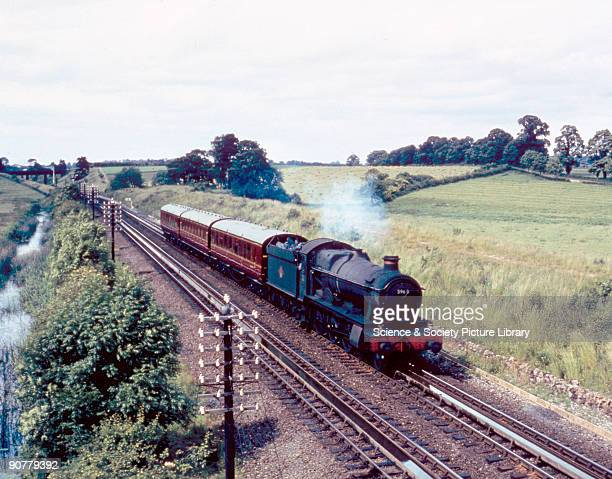 Steam locomotive 'Honington Hall' passing over Aynho water troughs Northamptonshire 1960 This 460 locomotive No 5969 was built for the Great Western...