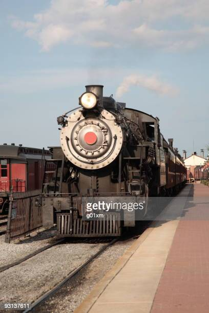 Steam Locomotive in Amish viliage