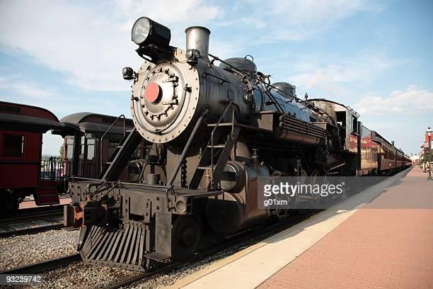 Steam Locomotive in Amish viliage