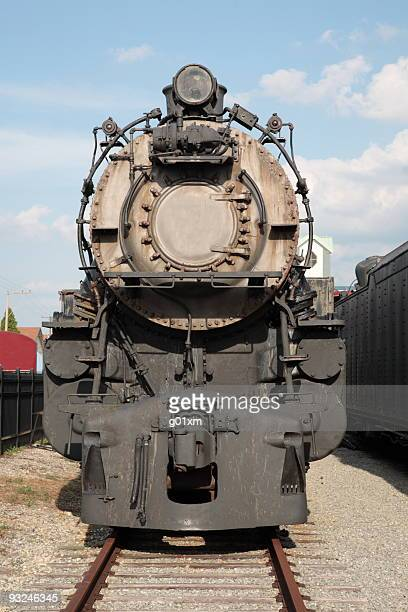 Steam Locomotive in Amish viliage,