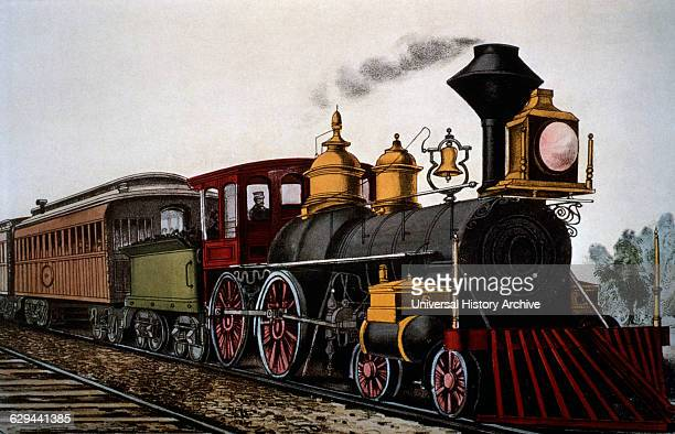 Steam Locomotive Train Currier Ives