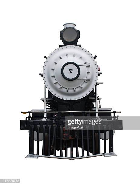 Steam Locomotive With A Clipping Path