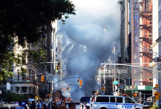Steam pipe explosion in the Flatiorn district in NYCm on July 19th, 2018.