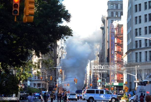 Steam pipe explosion in the Flatiron disrtrict in NYC, on July 19th, 2018.