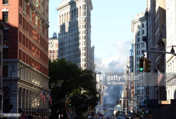 Steam pipe explosion in the Flatiron district in NYC, on July 19th, 2018.