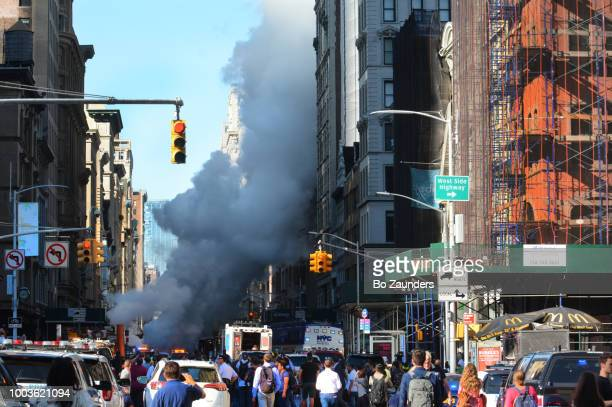Steam pipe explosion in the Flatiron district in NYC. on July 19th. 2018.
