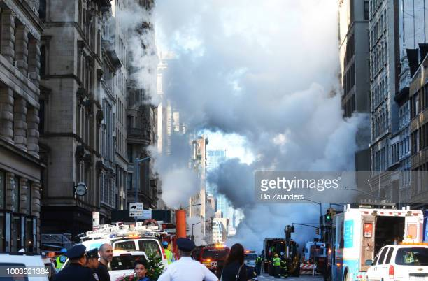 Steam pipe explosion in the Flatiron District n NYC, on Julu 19th, 2018.