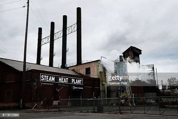 A steam plant is shown on October 24 2016 in Youngstown Ohio Ohio has become one of the key battleground states in the 2016 presidential election...