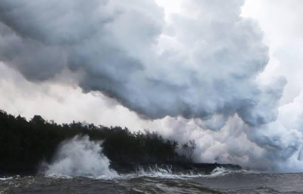 Hawaii's Kilauea Volcano Erupts Forcing Evacuations Wall Art
