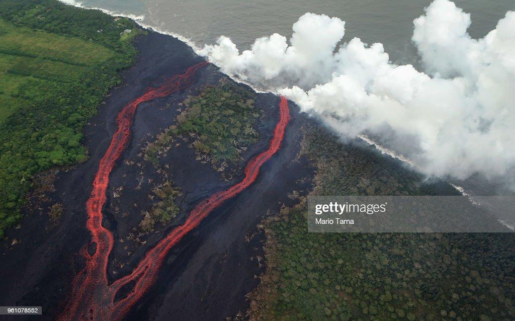 Hawaii's Kilauea Volcano Erupts Forcing Evacuations : Nachrichtenfoto