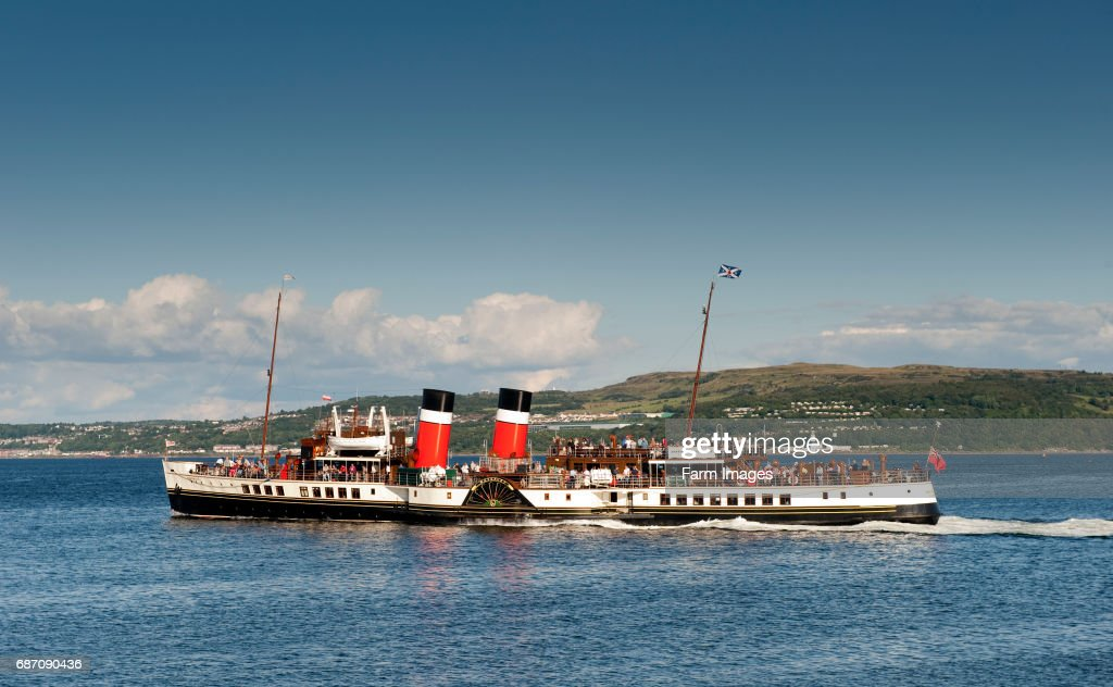 Steam Powered Paddle Boat Waverley At Dunoon Argyll