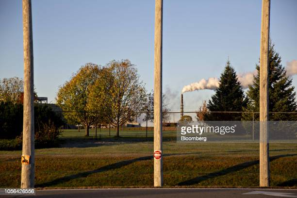 Steam rises from a stack on the grounds of the 3M Co Cottage Grove Center in Cottage Grove Minnesota US on Thursday Oct 18 2018 3M's Cottage Grove...