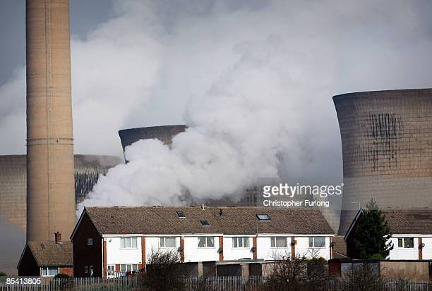 Steam rises from the cooling towers of the Ferrybridge power station on March 13 2009 in Ferrybridge Yorkshire England Many UK householders have...
