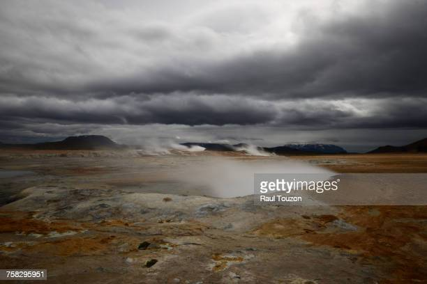 iceland. - volcanic crater stock pictures, royalty-free photos & images