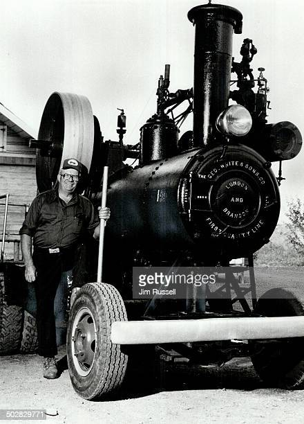Steam show Francis Hockley and his George Winter Steam engine will be featured at annual UxbridgeScott Historical Society's Steam Threshing Days...