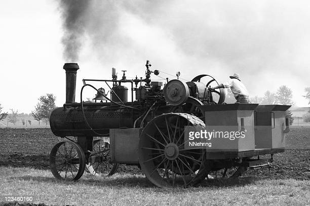 steam tractor, retro - 20th century style stock pictures, royalty-free photos & images