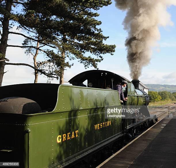Treno a vapore in partenza