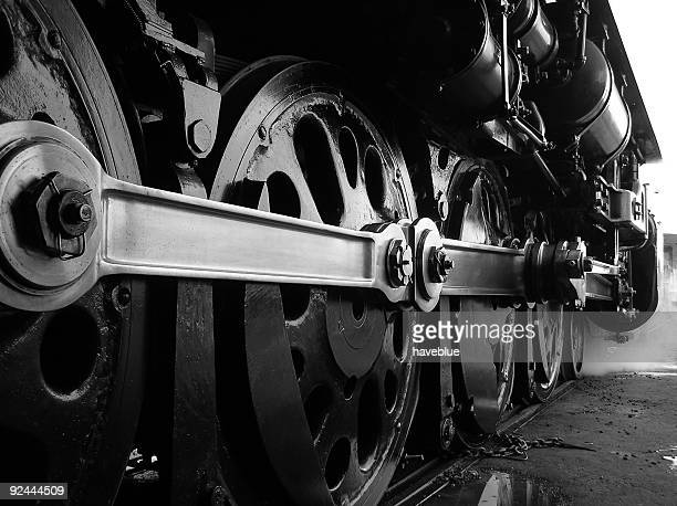steam train drive wheels - steam train stock pictures, royalty-free photos & images
