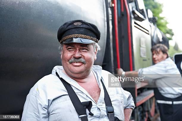 Conducteur de train à vapeur