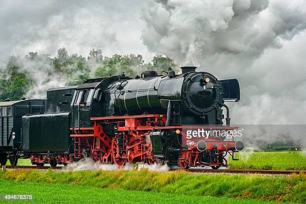 Steam Train drving in the countryside