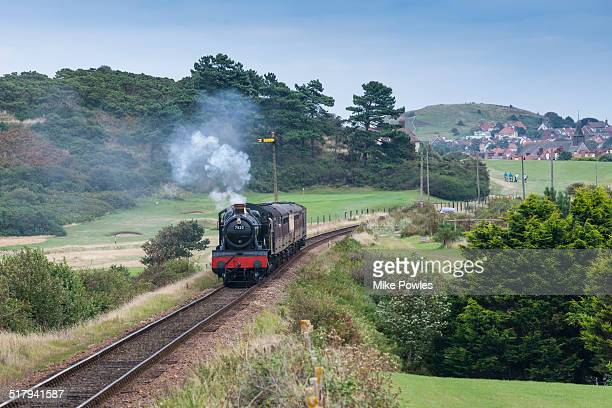 steam train, north norfolk railway, sheringham - norfolk england stock pictures, royalty-free photos & images