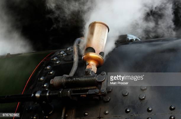 steam whistle - locomotive stock pictures, royalty-free photos & images