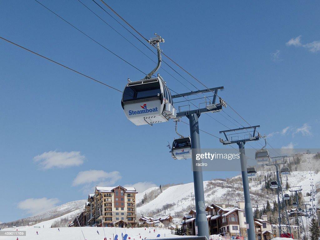 Steamboat, Colorado ski resort gondola : Stock Photo