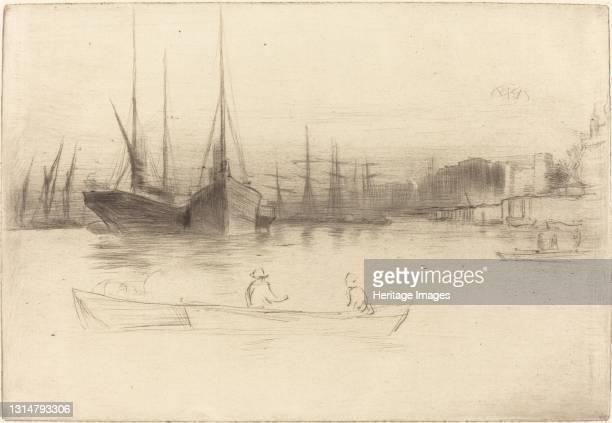 Steamboats off the Tower, 1875. Artist James Abbott McNeill Whistler.