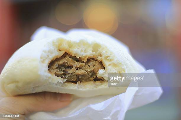 Steamed bun with meat