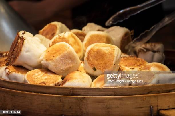 Steamed dumplings for sale on Kulangsu Island