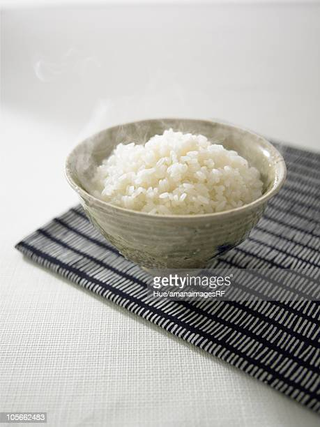 Steamed rice in bowl