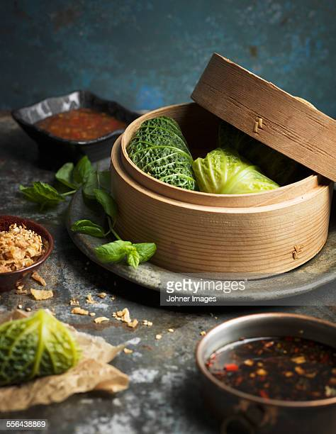 Steamed stuffed cabbage
