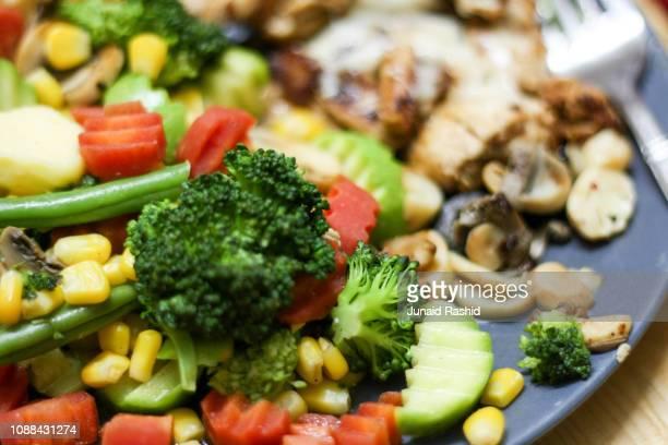 steamed vegetable platter for dinner - 蒸し ストックフォトと画像