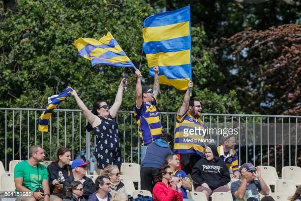 Steamer fans had a lot to cheer about all afternoon during the Mitre 10 Cup Semi Final match between Bay of Plenty and Otago on October 21 2017 in...