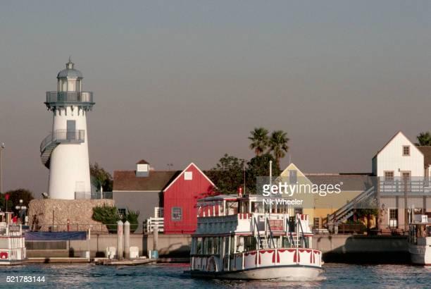 Steamer-Type Boat Cruising in Waters Near Marina Del Rey